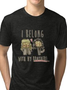 I belong with my brother Tri-blend T-Shirt