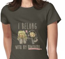 I belong with my brother Womens Fitted T-Shirt