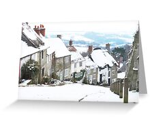 Gold Hill, Shaftesbury Greeting Card