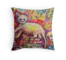 Playing Cat 'n' Mouse Throw Pillow