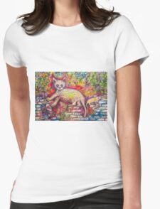 Playing Cat 'n' Mouse Womens Fitted T-Shirt