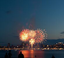 Halifax Fireworks by tonymaclean