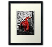 Red Pajamas Framed Print