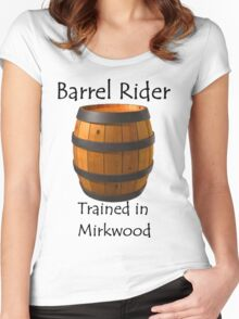 Barrel Rider - Trained in Mirkwood Women's Fitted Scoop T-Shirt