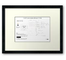 Class101 a Java executable walkthrough Framed Print