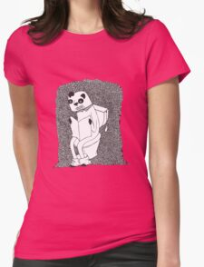 Panda in toilet Womens T-Shirt