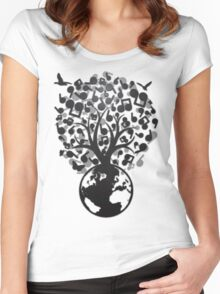 The_Music_Tree Women's Fitted Scoop T-Shirt