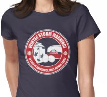 Winter Storm Warning Womens Fitted T-Shirt