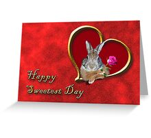 Sweetest Day Bunny Greeting Card