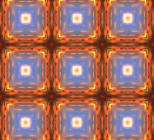 Pressure Points Square Pattern by Mariaan Maritz Krog Photos & Digital Art