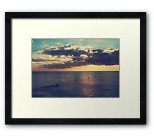 On a Warm Evening Framed Print