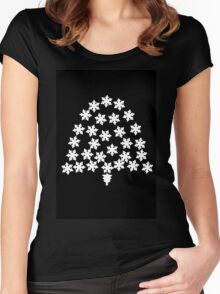 Christmas ring bell pattern Women's Fitted Scoop T-Shirt