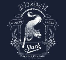 direwolf  winter lager t-shirt by Fizziponi