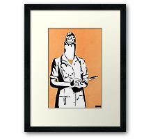 Cigarette Nurse Framed Print