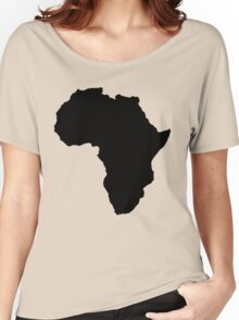 The continent of Africa map of African nation Women's Relaxed Fit T-Shirt