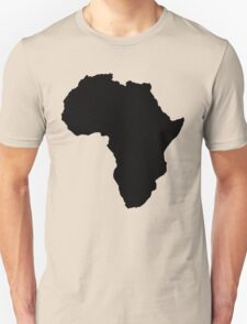 The continent of Africa map of African nation T-Shirt