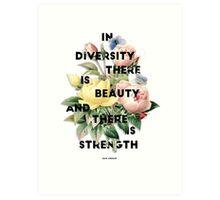 In Diversity   Art Print