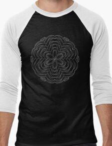 Flare Mandala - white design Men's Baseball ¾ T-Shirt