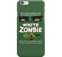 Cool White Zombie Film Poster iPhone Case/Skin