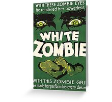 Cool White Zombie Film Poster Greeting Card