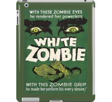 Cool White Zombie Film Poster iPad Case/Skin