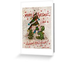 Christmas Cracker With The Elves ! Greeting Card