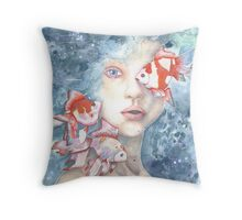 Under the Water and Dreaming Throw Pillow