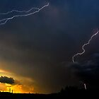 Sunset Lightning by Marc  Rossmann