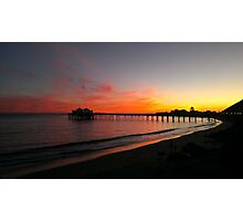Malibu Pier Sunset Photographic Print