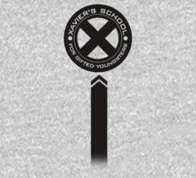 x-men xavier' s school black logo by Fizziponi