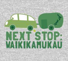 NEXT STOP: Waikikamukau funny fake Kiwi New Zealand travel destination One Piece - Short Sleeve