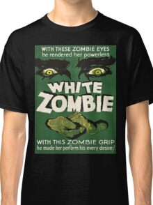Cool White Zombie Film Poster Classic T-Shirt