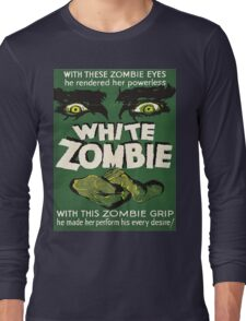 Cool White Zombie Film Poster Long Sleeve T-Shirt