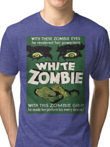 Cool White Zombie Film Poster Tri-blend T-Shirt