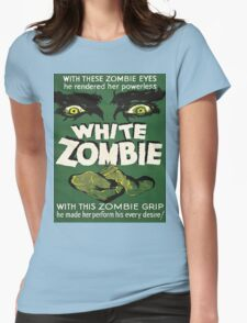 Cool White Zombie Film Poster Womens Fitted T-Shirt