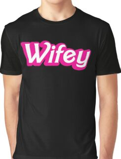 Wifey in cute bubble pink font Graphic T-Shirt