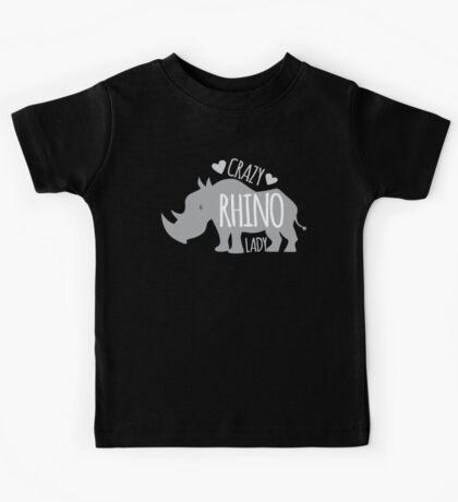 Crazy Rhino Lady Kids Tee