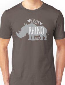 Crazy Rhino Lady Unisex T-Shirt