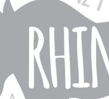 Crazy Rhino Lady Sticker