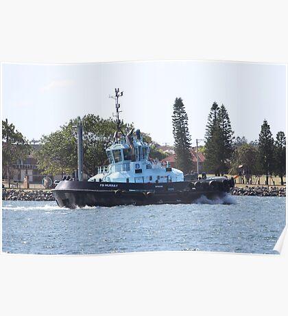 Newcastle Tugboat PB Murray Poster