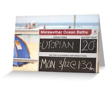 Merewether Baths - Utopian Conditions Greeting Card