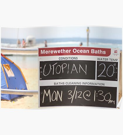 Merewether Baths - Utopian Conditions Poster