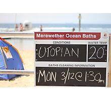 Merewether Baths - Utopian Conditions Photographic Print