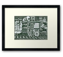 A Traveling Cabinet of Curiosities Framed Print