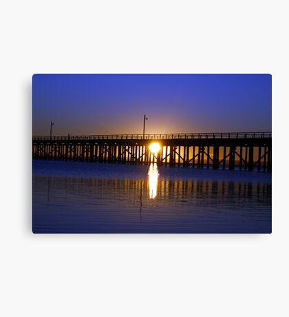 Purple Ocean Sunrise Canvas Print