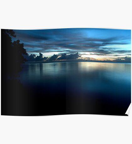Nahlap Calm - Pohnpei, Micronesia Poster