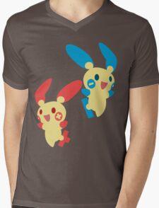 Plusle & Minun Mens V-Neck T-Shirt