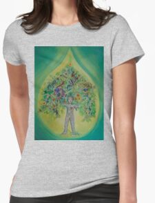 The Everything Tree Oil Drop Womens Fitted T-Shirt