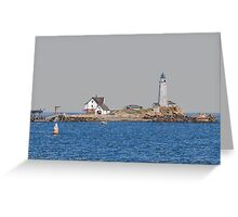 Boston Light - Colored Pencil Effect Greeting Card