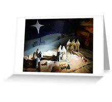 The Nativity Scene  Greeting Card
